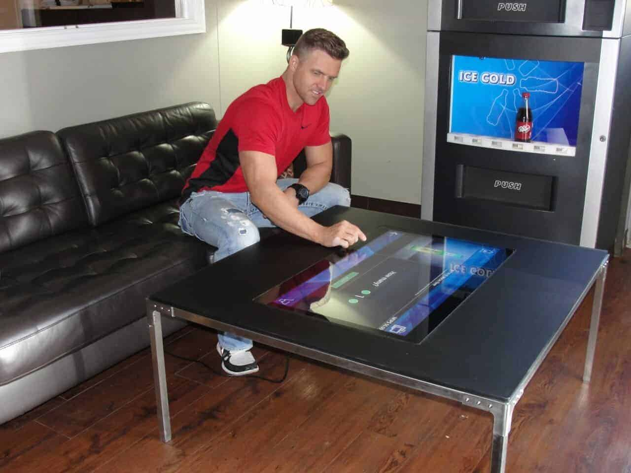 touch screen coffee tables digital