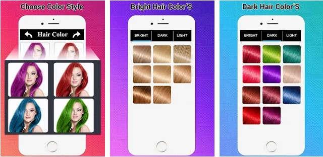Aplikasi Android Pengubah Warna Rambut