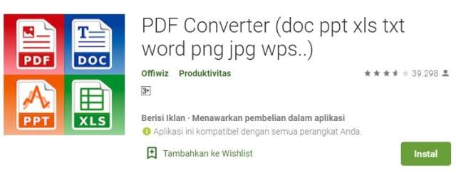 Cara Mengubah Dokumen PDF ke Word di Android