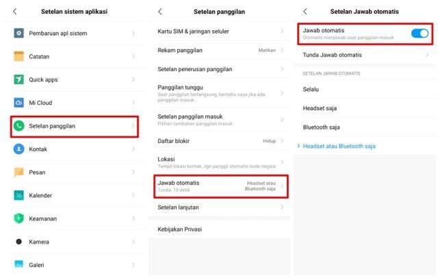 Cara Mematikan Jawab Panggilan Otomatis di Xiaomi (MIUI 10)