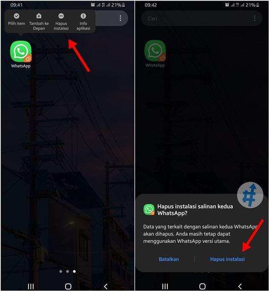Cara menghapus aplikasi ganda di samsung