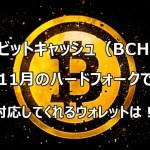 ビットコインキャッシュ(BCH)11月のハードフォークで対応してくれるウォレットは!?