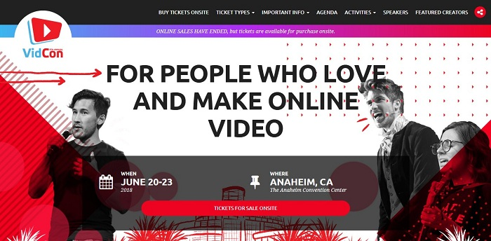 VidCon 2018 to Gather Digital Marketers in Battalions