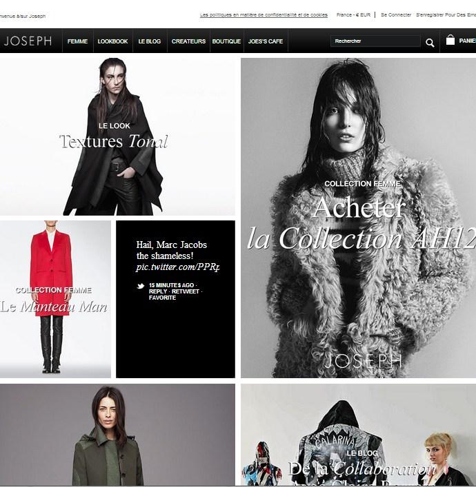Nouveau site e-commerce signé JOSEPH