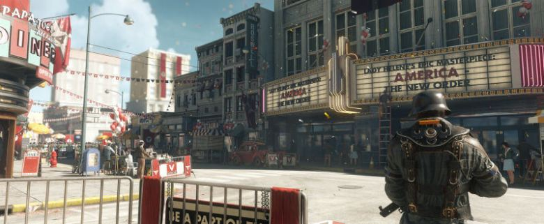 A festival scene in Wolfenstein II: The New Colossus