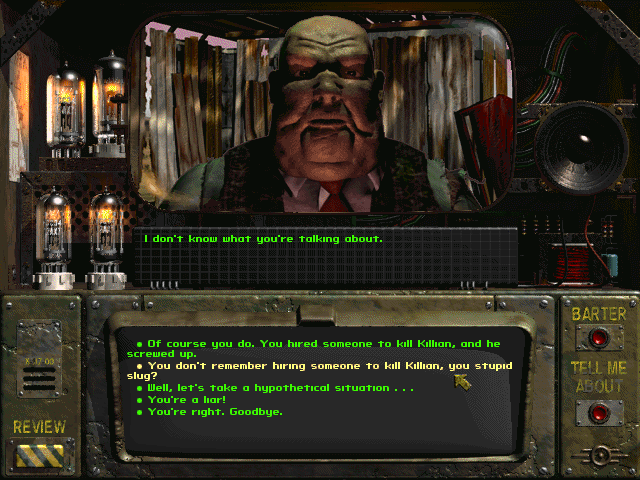 Fallout 1 game screenshot dialogue