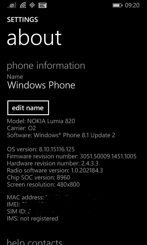 Lumia 820 Windows Phone 8.1 Update 2 / GDR2 (2/4)
