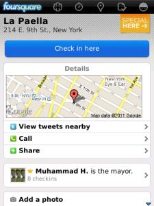 Foursquare venue