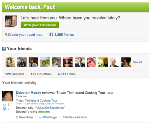 TripAdvisor Facebook integration