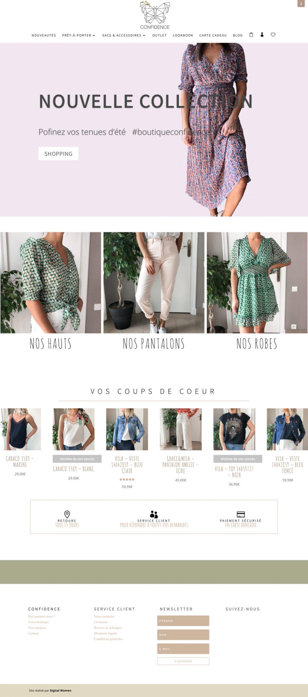 Planche site boutique Confidence
