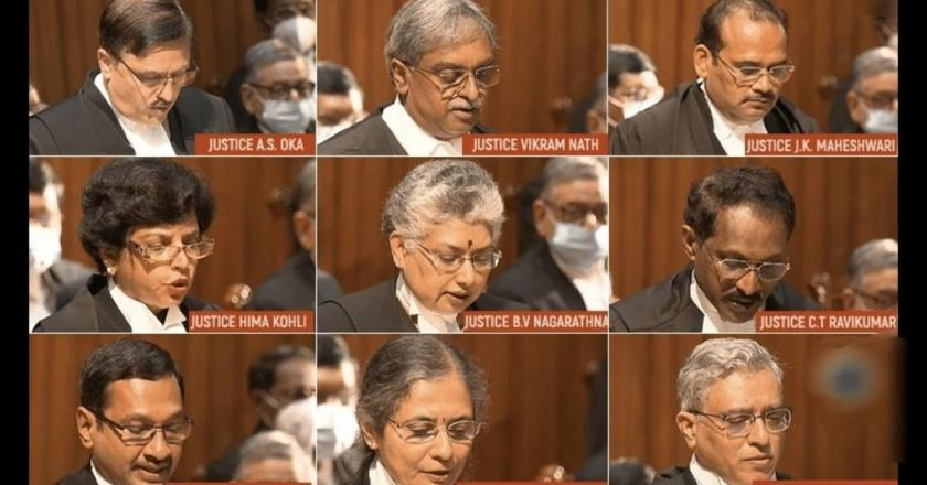 Historic Moment: In a first, Nine new Supreme Court judges, including three women take oath