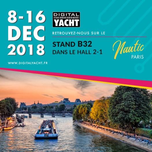 Digital Yacht exposera au Nautic de Paris