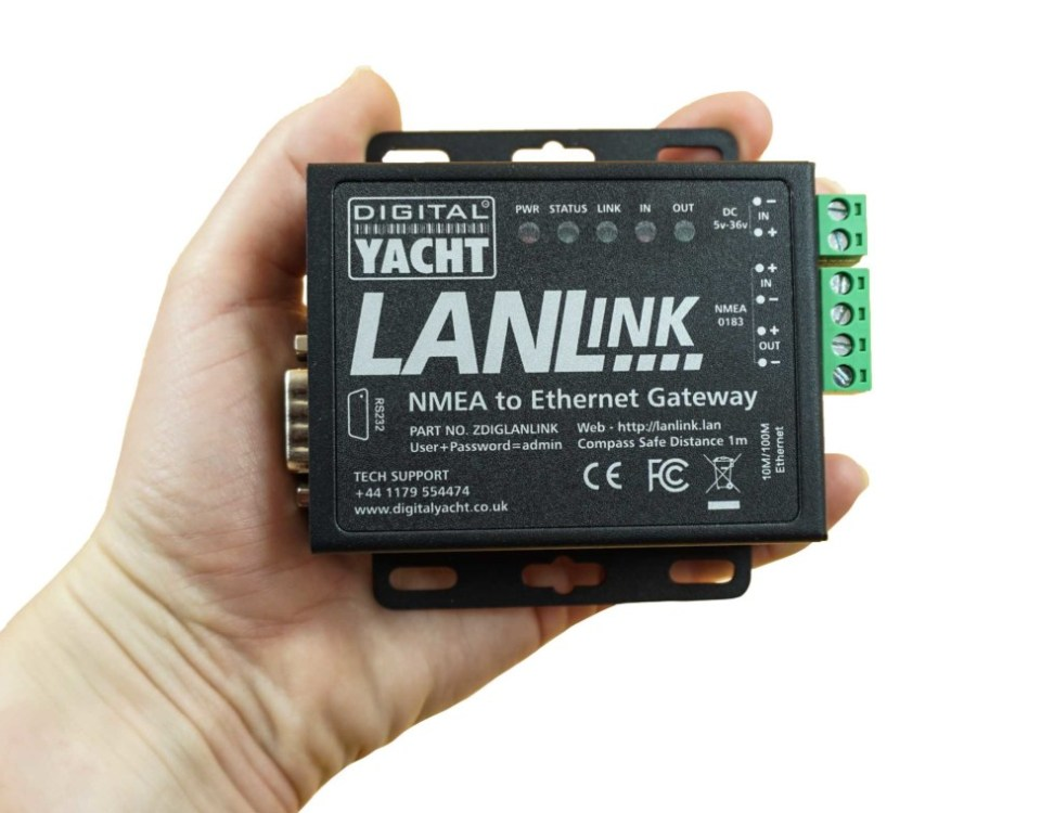 lanlink is a nmea to ethernet gateway