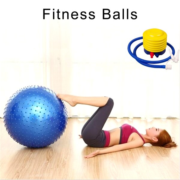 65CM Thickened Yoga Ball Environmental Protection Explosion proof Fitness Ball Thorn Massage Ball with Air Pump 3