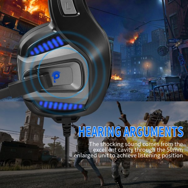 Professional Gamer Headset Led Light 3D Wired Headphone For PS4 PS5 Fifa 21 Xbox Laptop PC 4