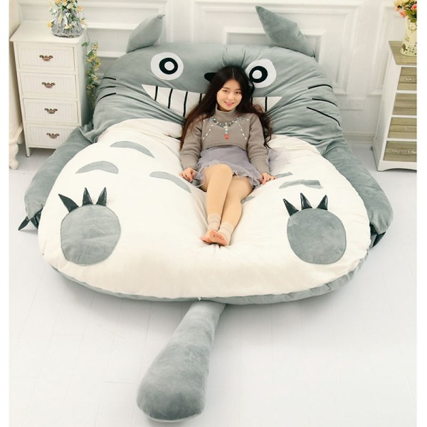 Totoro Lazy Bed Couch Tatami Mattress Chinchillas Lengthened Thickened Bed Cartoon Balcony Sofa Bedroom lounge bed 2
