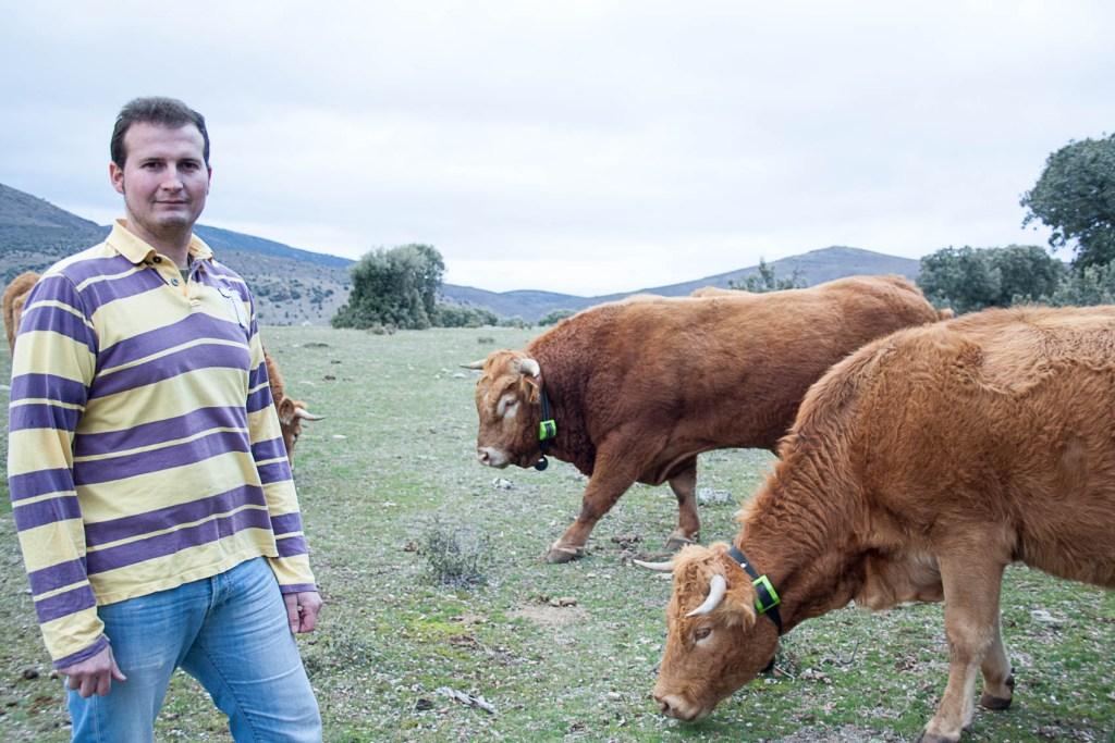 Rubén Blanco, ganadero y director comercial de Digitanimal