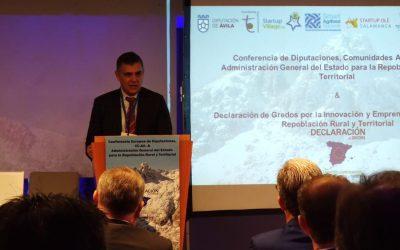 Digitanimal presente en la Conferencia por la Despoblación y la firma de la Declaración de Gredos