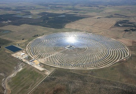 African Solar Power Plant site in Ouarzazate, Morocco