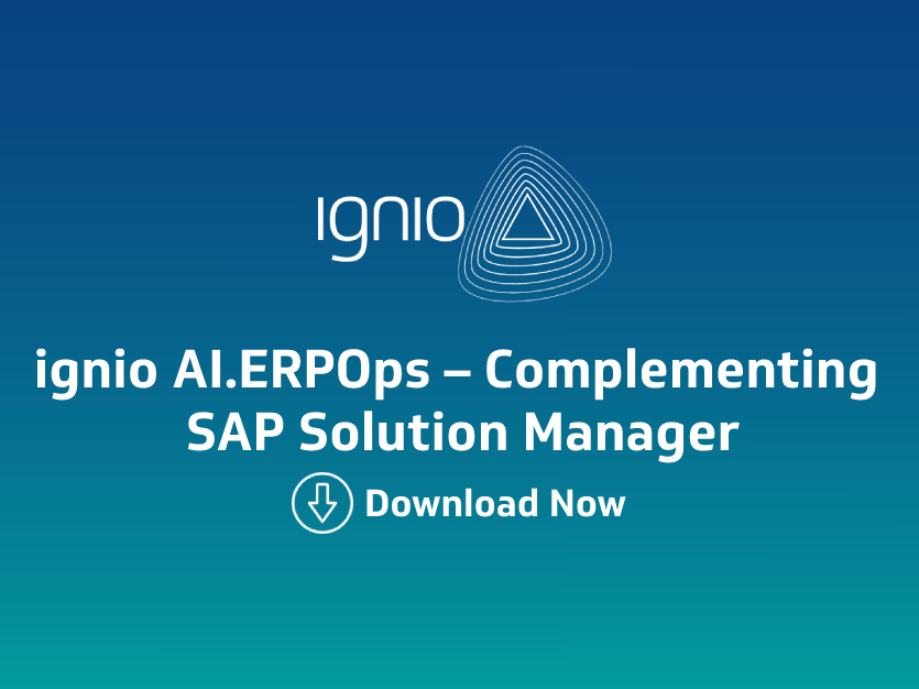 Ebook -ignio AI.ERPOps – Complementing SAP Solution Manager
