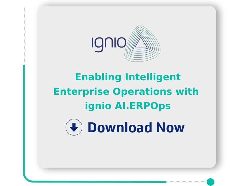 Enabling Intelligent Enterprise Operations with ignio AI.ERPOps