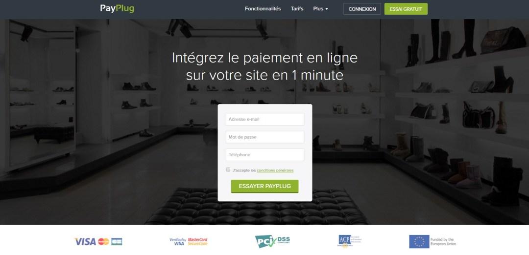 Landing page Payplug