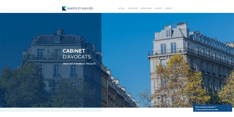 Exemple de site de cabinet d'avocats