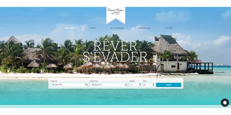 Exemple de site de résidence de vacances