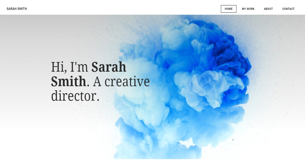 sarahsmith exemple site Weebly