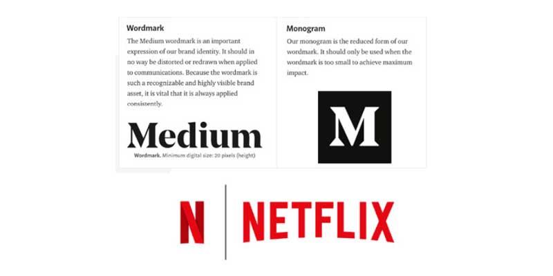 Logo Medium et Netflix