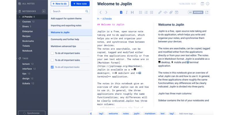 Joplin Note Taking APP