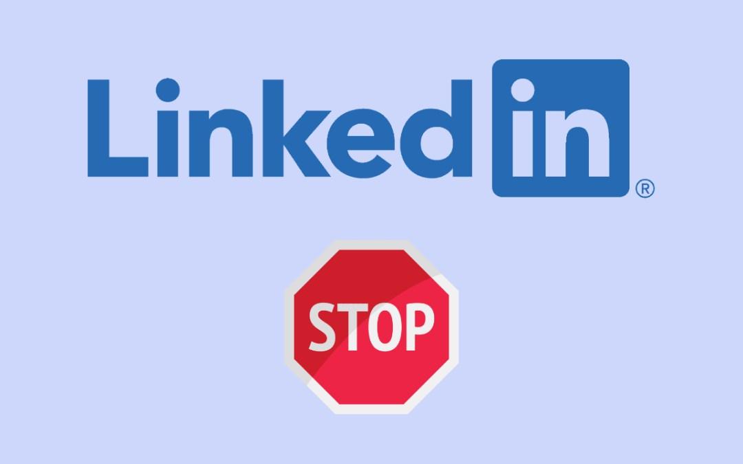 Limitation LinkedIn