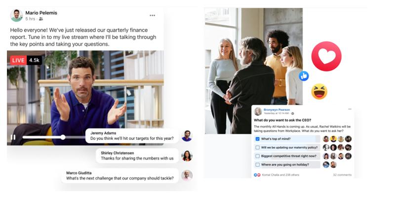 Workplace by Facebook - réseaux sociaux d'entreprise (RSE)