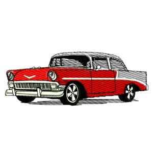 1956 Chevrolet Bel Air Embroidery Design