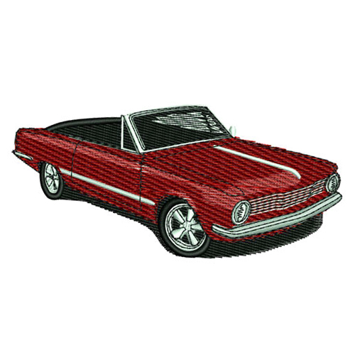 1964 Plymouth Valiant Convertible Embroidery Design