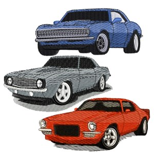 1967 1971 Chevrolet Camaro Embroidery Design Discount Value Pack