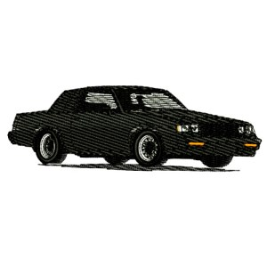 1987 Buick Regal Grand National Embroidery Design