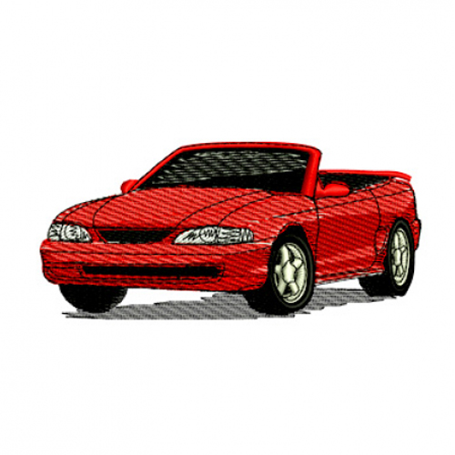 1998 Ford Mustang GT Convertible Embroidery Design