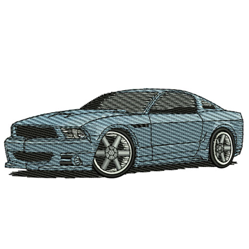 2010 Ford Mustang Embroidery Design