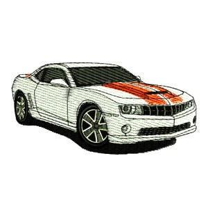 2011 Chevrolet Camaro SS with Stripes Embroidery Design