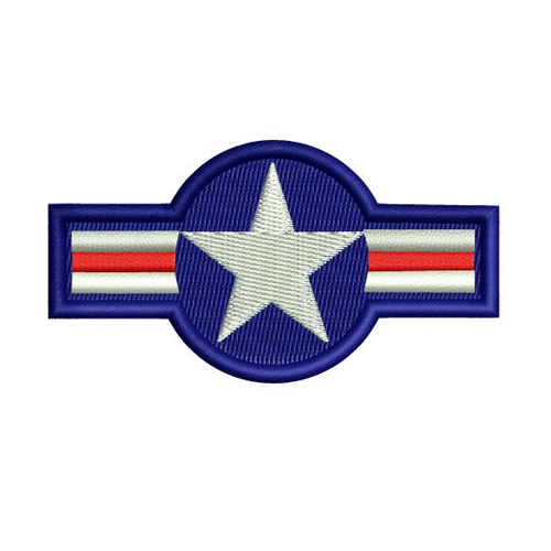 Air Force Vintage Star Embroidery Design