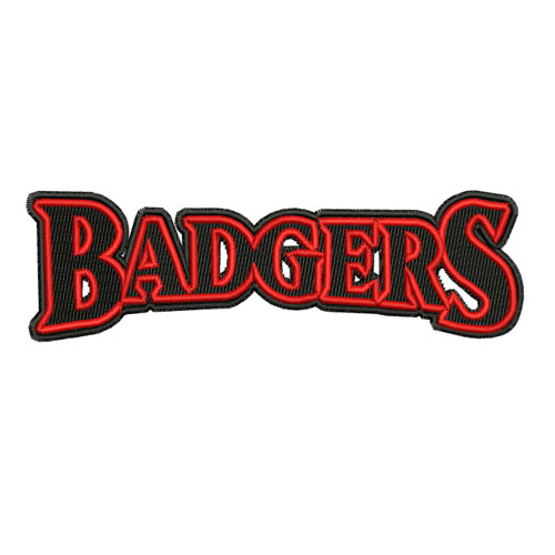 Badgers Athletics Sports Team Embroidery Design