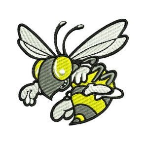 Bees Bee Sports Mascot Embroidery Design