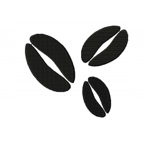 Coffee Beans Silhouette Embroidery Design