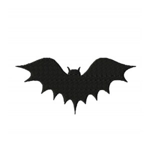 Flying Bat Silhouette Embroidery Design 1