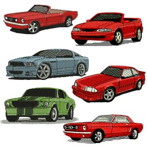 Ford Mustang Embroidery Design Discount Value Pack