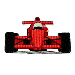 Formula One Indy Racing Car Embroidery Design
