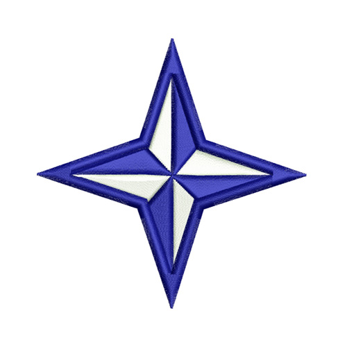 Four Point Nautical Star Embroidery Design