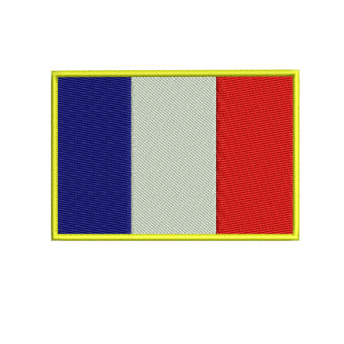 French France Flag Embroidery Design