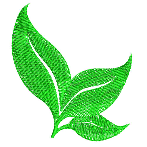 Green Leaves Leaf Embroidery Design